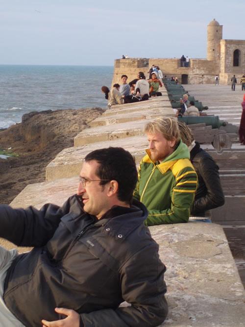 En la muralla de Essaouira