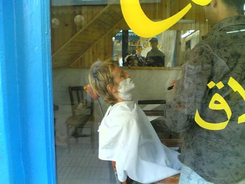 Afeitado apurado en Essaouira