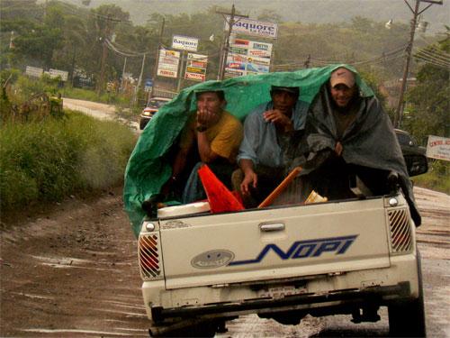 Lluvia cerca de Tamarindo