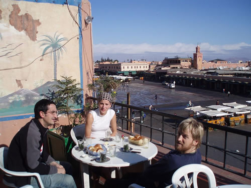 Desayuno en la terraza del CTM