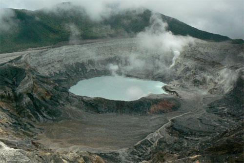 El volcán Poas