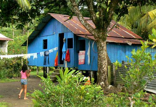Una casa de Tortuguero