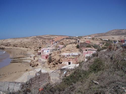 Casas de pescadores en Imsouane