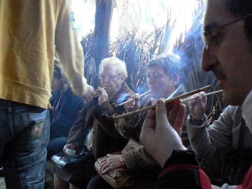 fumando la palma